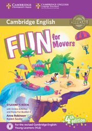 FUN FOR MOVERS STUDENT'S BOOK WITH ONLINE ACTIVITIES WITH AUDIO AND HOME FUN BOO
