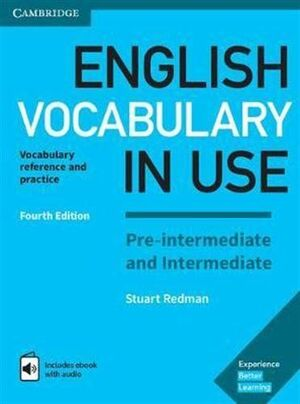 ENGLISH VOCABULARY IN USE PRE-INT 4ED KEY/INTERACTIVE EBOOK