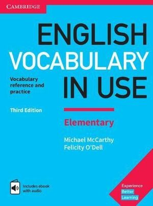 ENGLISH VOCABULARY IN USE ELEMENTARY BOOK WITH ANSWERS AND ENHANCED EBOOK 3RD ED