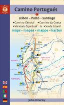 MAPA-GUÍA CAMINO PORTUGUÉS (LISBON - PORTO - SANTIAGO)