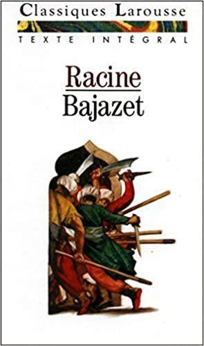 BAJAZET (FRANCES) (TEATRO)