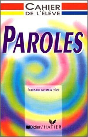 PAROLES CAHIER DE L´ÉLÈVE