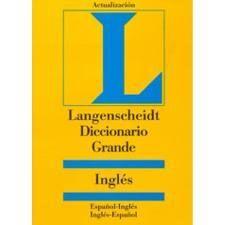 DICCIONARIO GRANDE INGLES (LANGENSCHEIDT)