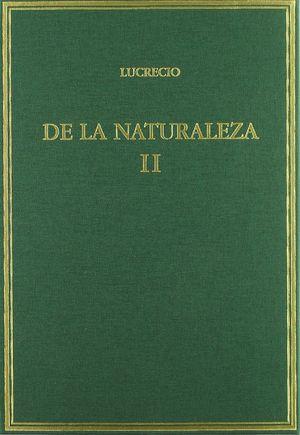 DE LA NATURALEZA II LIBROS IV-VI