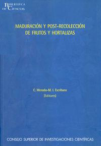 MADURACION Y POTSCOLECCION DE FRUTOS Y HORTALIZAS