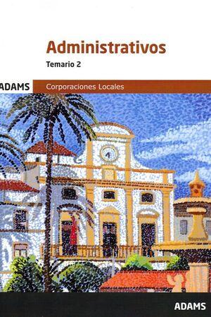 TEMARIO 2 ADMINISTRATIVOS CORPORACIONES LOCALES