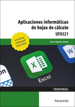 APLICACIONES INFORMÁTICAS DE HOJAS DE CÁLCULO. MICROSOFT EXCEL 2019
