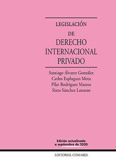LEGISLACION DE DERECHO INTERNACIONAL PRIVADO