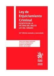 LEY DE ENJUICIAMIENTO CRIMINAL 30ª EDICIÓN ANOTADA Y CONCORDADA