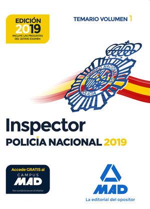 INSPECTOR DE POLICÍA NACIONAL. TEMARIO VOLUMEN 1