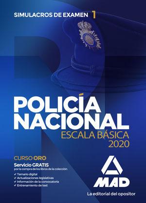 POLICÍA NACIONAL ESCALA BÁSICA SIMULACROS EXAMEN 1