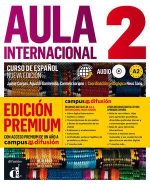 AULA INTERNACIONAL 2.CURSO DE ESPAÑOL. ALUMNO+CD+CAMPUS @ (PREMIUM)