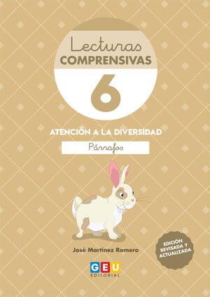 LECTURAS COMPRENSIVAS 6. ATENCIÓN A LA DIVERSIDAD, LEO PARRAFOS