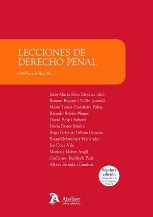 LECCIONES DE DERECHO PENAL. PARTE ESPECIAL (7ª EDICIÓN)