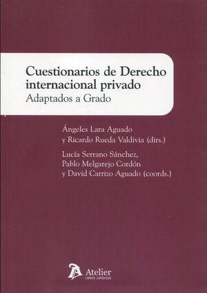 CUESTIONARIOS DE DERECHO INTERNACIONAL PRIVADO