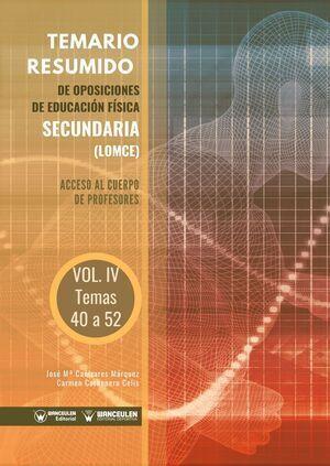 TEMARIO RESUMIDO OPOSICIONES EDUC. FISICA SECUNDARIA, 4