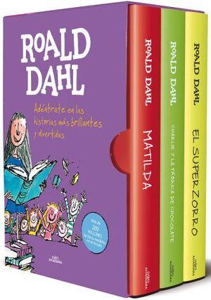 ESTUCHE ROAL DAHL (MATILDA, CHARLIE Y LA FABRICA DE CHOCOLATE, EL SUPERZORRO)