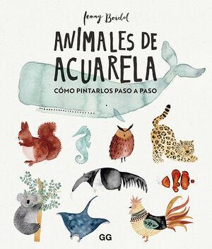 ANIMALES DE ACUARELA. CÓMO DIBUJARLOS PASO A PASO