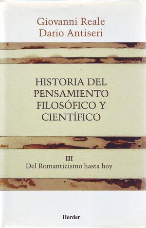 HISTORIA DEL PENSAMIENTO FILOSÓFICO Y CIENTÍFICO III