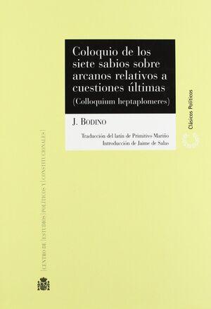 COLOQUIO DE LOS SIETE SABIOS SOBRE ARCANOS RELATIVOS A CUESTIONES ÚLTIMAS = COLL