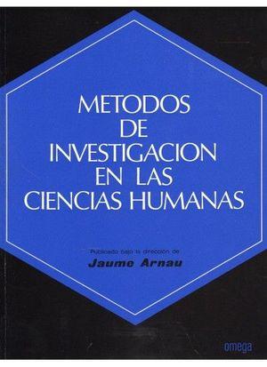 METODOS INVESTIGACION CIENCIAS HUMANAS