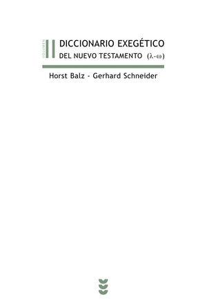 DICCIONARIO EXEGÉTICO DEL NUEVO TESTAMENTO (L-Z)