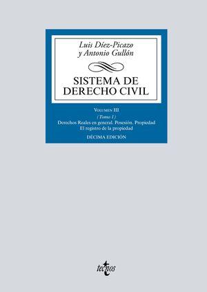 SISTEMA DE DERECHO CIVIL VOLUMEN III (TOMO 1)  DERECHOS REALES EN GENERAL