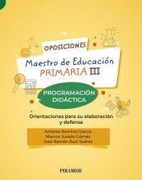 OPOSICIONES. MAESTRO DE EDUCACIÓN PRIMARIA III