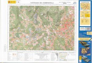 94-4 SANTIAGO DE COMPOSTELA 1:25.000