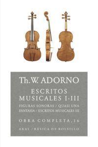 ADORNO COMP.16 ESCRITOS MUSICALES 1-3