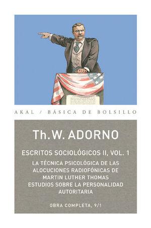 ESCRITOS SOCIOLÓGICOS II, 1