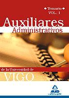 TEMARIO I AUXILIARES ADMINISTRATIVOS DE LAUNIVERSIDA DE VIGO