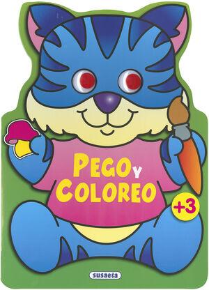 PEGO Y COLOREO ANIMALES (GATO)