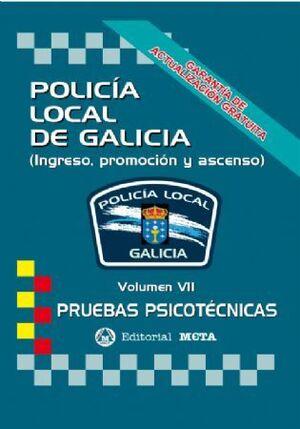 POLICIA LOCAL GALICIA VII PRUEBAS PSICOTECNICAS