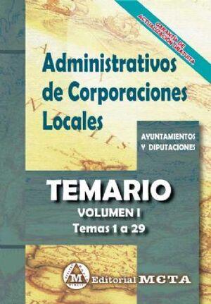TEMARIO I ADMINISTRATIVOS CORPORACIONES LOCALES