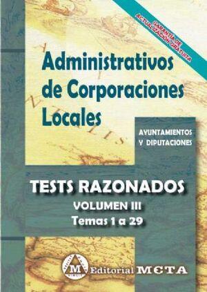 TESTS RAZONADOS ADMINISTRATIVOS DE CORPORACIONES LOCALES