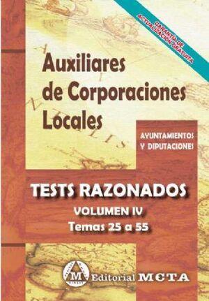 TEST RAZONADOS AUXILIARES DE CORPORACIONES LOCALES