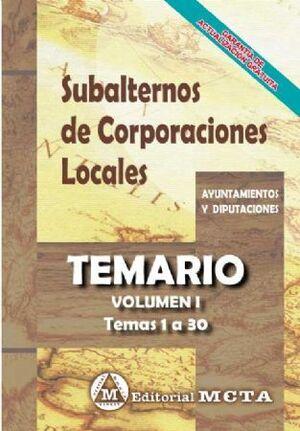 TEMARIO I SUBALTERNOS DE CORPORACIONES LOCALES