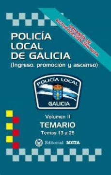 TEMARIO II POLICIA LOCAL DE GALICIA