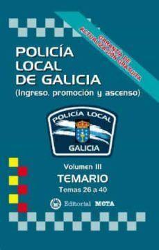 TEMARIO III POLICIA LOCAL DE GALICIA