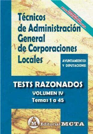 TEST RAZONADOS TÉCNICOS ADMINISTRACIÓN GENERAL CORPORACIONES LOCALES TEST RAZONADOS