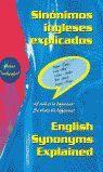 SINÓNIMOS INGLESES EXPLICADOS = ENGLISH SYNONYMS EXPLAINED