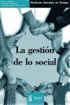 20. POLITICAS SOCIALES EN EUROPA. GESTION DE LO SOCIAL, LA