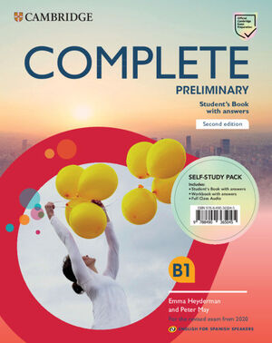 PACK.COMPLETE PRELIMINARY B1 SECOND EDITION ENGLISH FOR SPANISH SPEAKERS. SELF-STUDY PAC