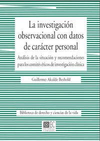 LA INVESTIGACIÓN OBSERVACIONAL CON DATOS DE CARÁCTER PERSONAL.