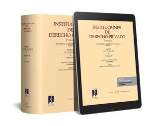 INSTITUCIONES DE DERECHO PRIVADO. TOMO V SUCESIONES. VOLUMEN 4º (PAPEL + E-BOOK)