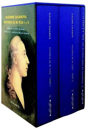 ESTUCHE GIACOMO CASANOVA. HISTORIA DE MI VIDA I Y II (3 VOLÚMENES)