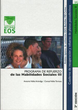 HABILIDADES SOCIALES III PROGRAMA REFUERZO HABILIDAES SOCIALES