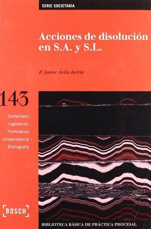 ACCIONES DE DISOLUCIÓN EN S.A. Y S.L.-BB143