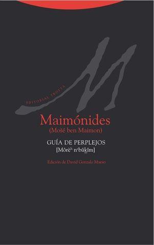 MAIMONIDES. GUIA DE PERPLEJOS